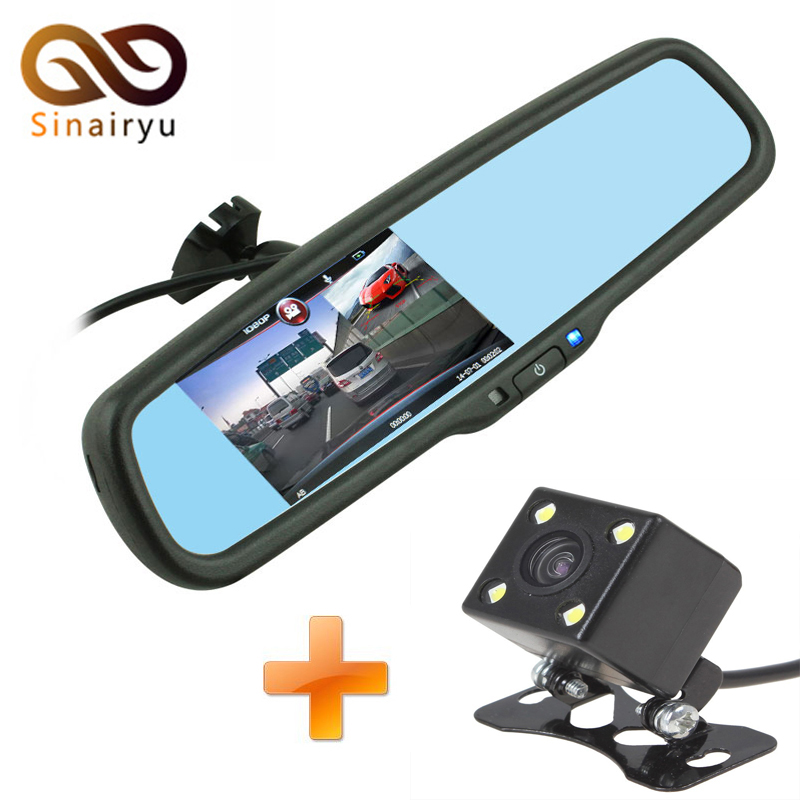 Dual Lens Car DVR Camera Mirror FHD 1080P Video Recorder Night vision Dash Cam Parking Monitor with Original Bracket 5 inch car camera dvr dual lens rearview mirror video recorder fhd 1080p automobile dvr mirror dash cam