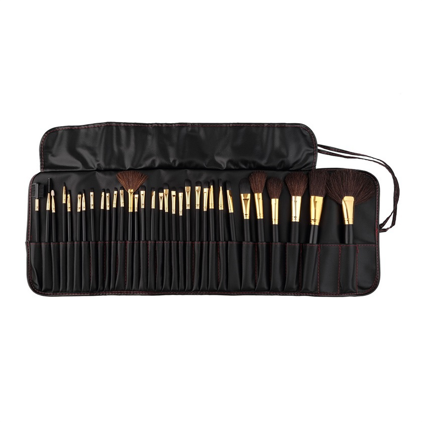 32 pcs/set Professional High Quality Cosmetics Makeup Brushes Set Kit Powder Foundation Make Up Brush With Leather Case new зубная паста babycoccole со вкусом яблока 75 мл 4202