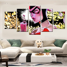 5 pieces of HD print wall art canvas painting photo Batman living room