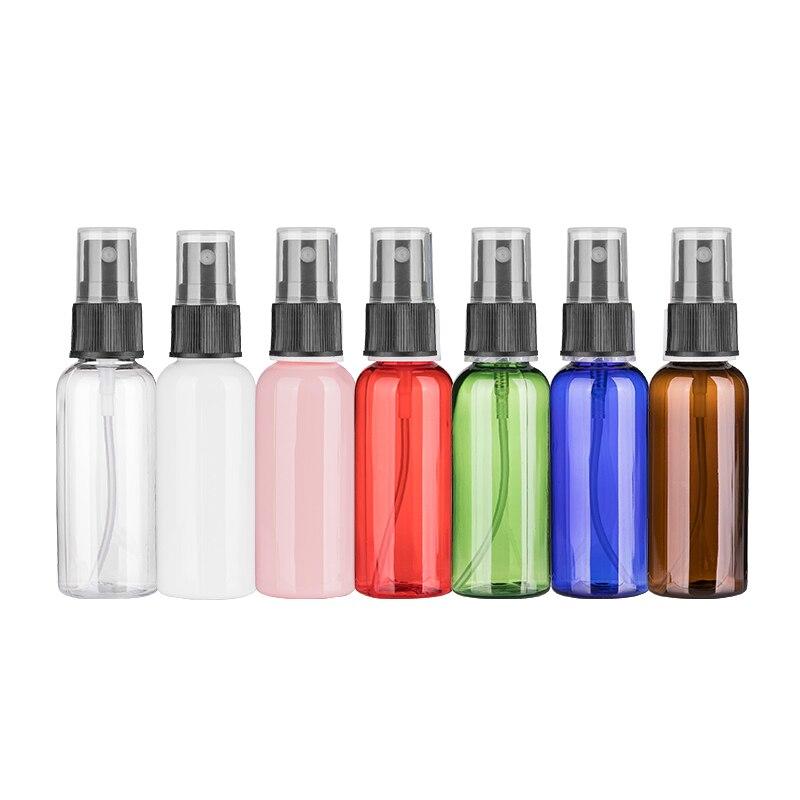 50ML x 50 Refillable Perfume Spray Plastic Bottle Spray Travel Bottle With Mist Pump Empty Cosmetic