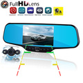 "C20 Dual lens Car DVR mirror camera 170 Degree lens 4.3"" display Allwinner A20 Full HD 1280x1080P 30FPS free shipping"