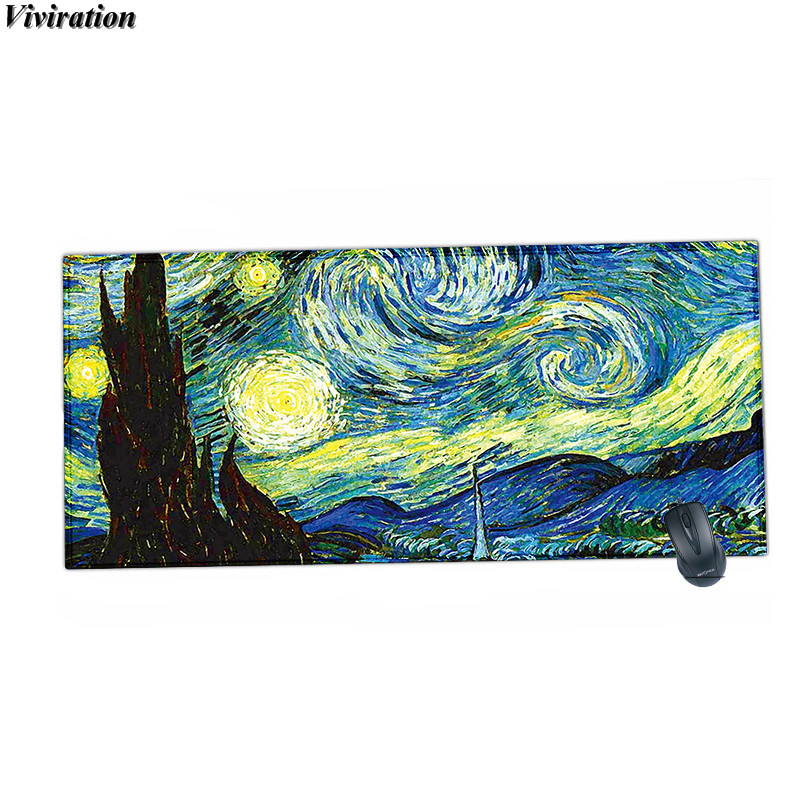 2018 New Hot Product Van Gogh Print Mouse Pad Mat For CF/WOW CSGO For League Of Legends Dota Gamer Mause Pad Viviration Mousepad