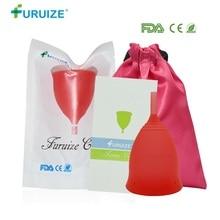 лучшая цена Furuize Menstrual cup Wholesale Reusable Medical Grade Silicone Lady Cup copa menstrual Feminine Hygiene For Women Menstruation