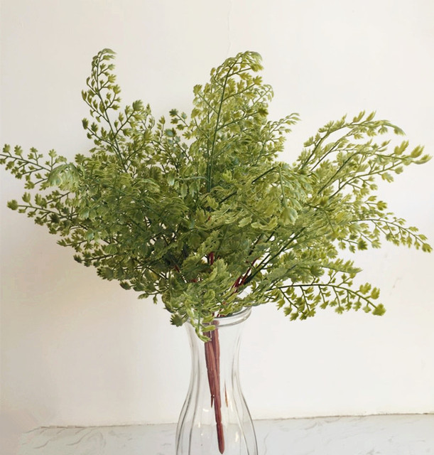 real touch feeling leaf bunch 5pcs artificial greenery evergreen