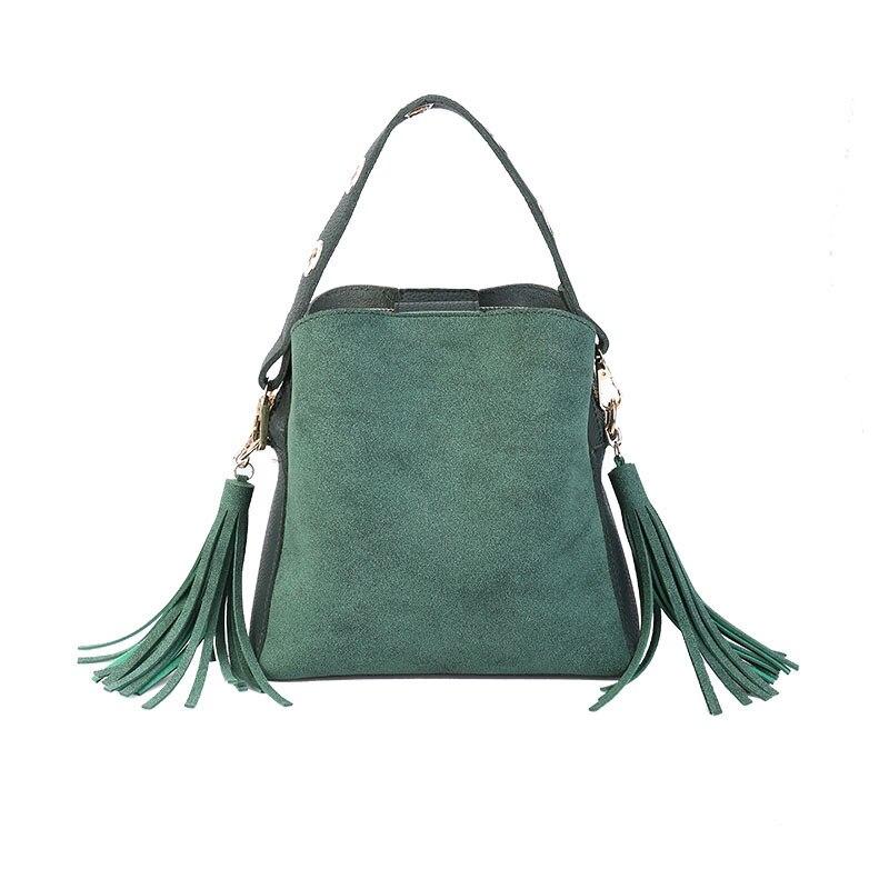 MARFUNY marca borla bolsos de hombro bolsos de mano de mujer Scrub bolso diario para niñas bolso de escuela mujer Crossbody bolsas New Bucket Sac