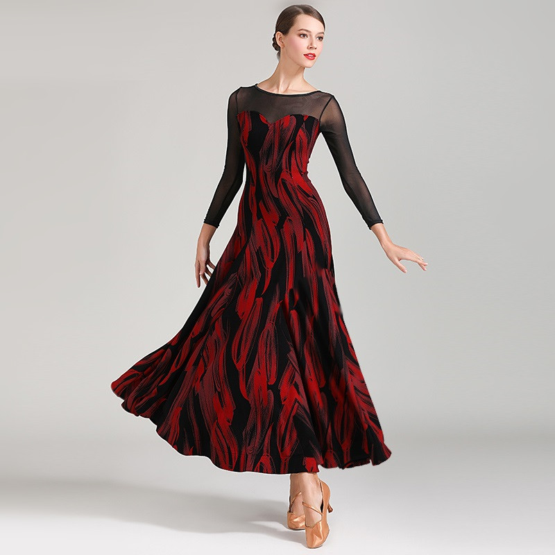 Ballroom-Dress Dance-Costumes Practice-Wear Flamenco Latin Dancing Modern Women for Foxtrot