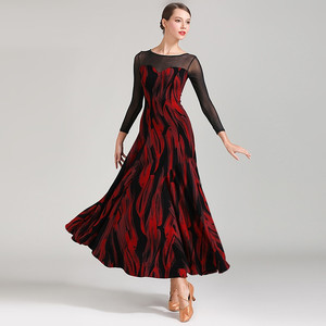 Image 1 - Latin ballroom jurk voor stijldansen vrouwen dans jurk flamenco ballroom praktijk slijtage foxtrot jurk moderne dans kostuums