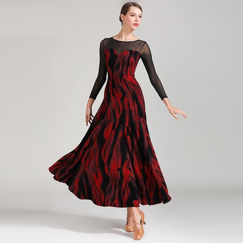 Latin Ballroom Dress For Ballroom Dancing Women Dance Dress Flamenco Ballroom Practice Wear Foxtrot Dress Modern Dance Costumes
