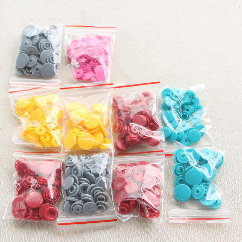 50 Sets KAM T3-T8 10.8-13.8MM Round Plastic Snaps Button Fasteners Quilt Cover Sheet Button Garment Accessories For Baby Clothes