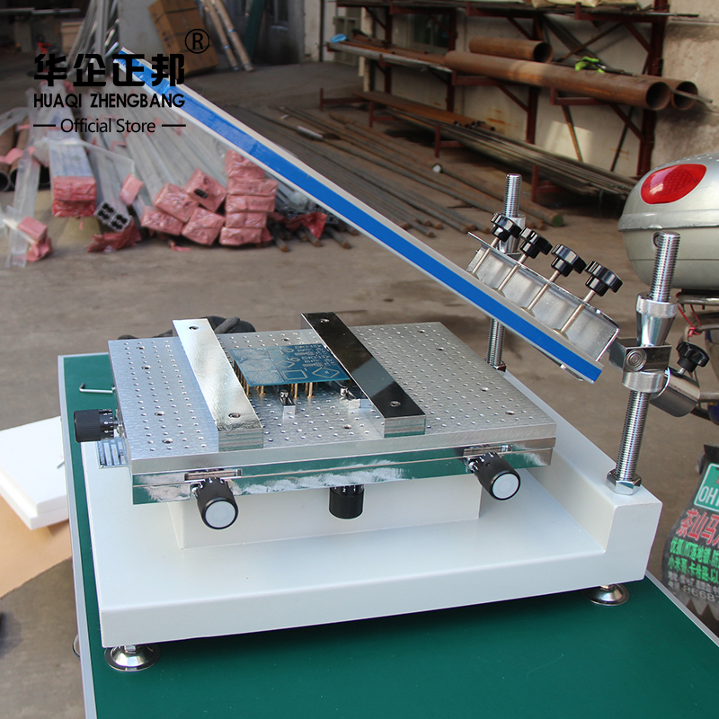 Smt Manual Solder Paste Printer / PCB Screen Printing Stencil Machine