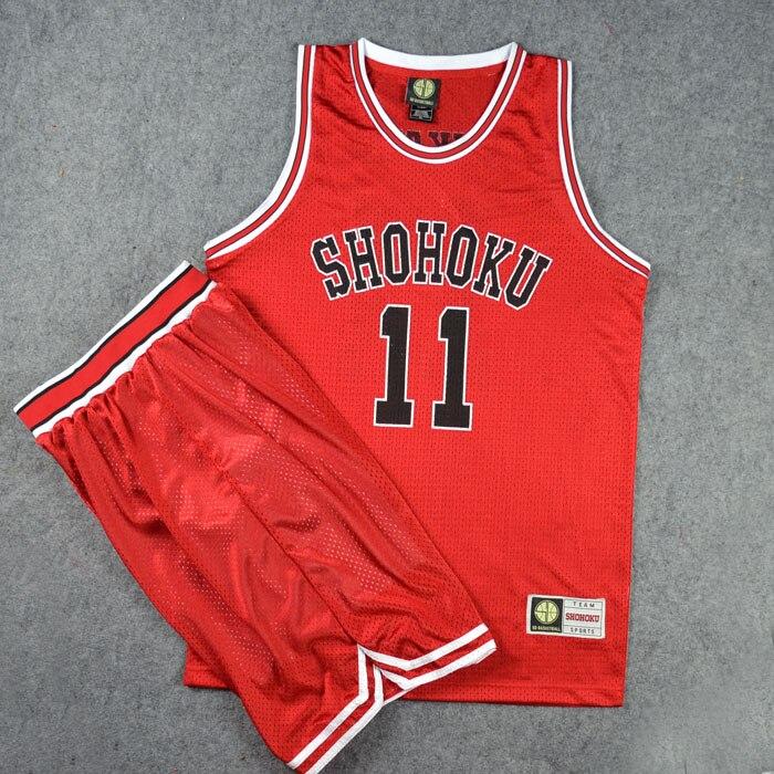 KAKUTA SAKURAGI KAEDE RUKAWA ISHII SASAOKA KUWATA Haruko Akagi Cosplay Costumes SLAM DUNK Shohoku Retro Basketball Jerseys NO.11