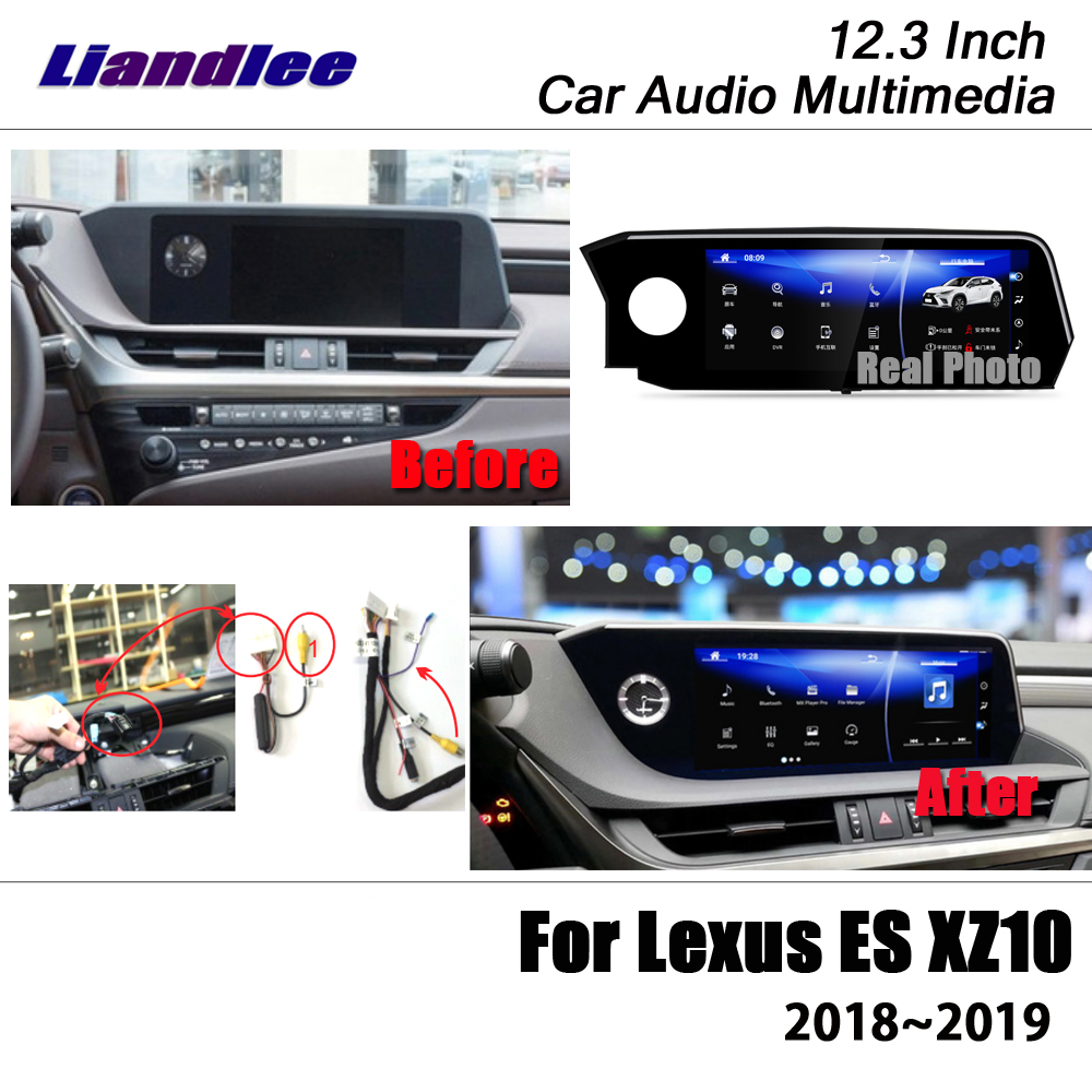Liandlee 12 3 Android For Lexus ES 200 260 300 XZ10 SV70 2018 2019 Stereo Video