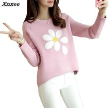 2018 Hot Autumn And Winter Style Pullover Long Sleeve Knit Sweater Women Xnxee
