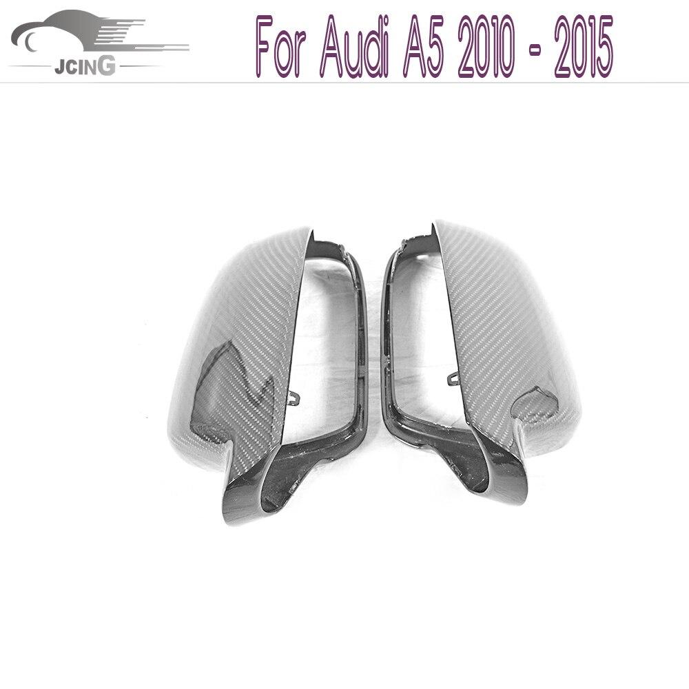 Protection de rétroviseur latérale en fibre de carbone pour Audi A5 2010-2015 avec trous d'assistance latérale