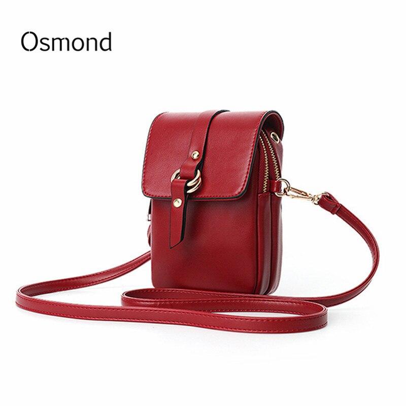 цена на Osmond Bolsa Feminina Mini Small Women Crossbody Bag PU Leather Flap Phone Bags Lady Handbag Purse Shoulder Messenger Bag Clutch