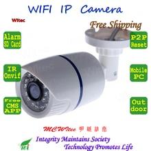 SD Card Built in WIFI  Camera 960P 720P CCTV Monitor Bullet ONVIF White Night image P2P IP Cam IR Cut Reset Motion alarm Network