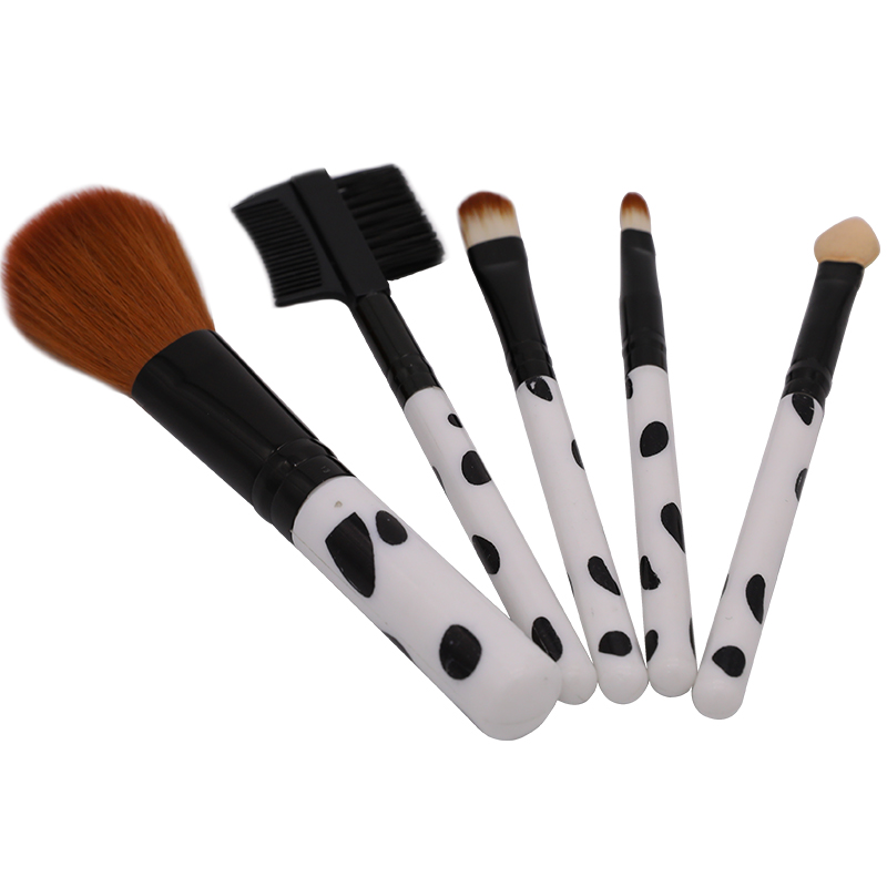 Chmake 5PCS Professional Makeup Brushes Set Make up Brush Tools kit Foundation Eyeshadow Eyebrow Blending natural-synthetic hair