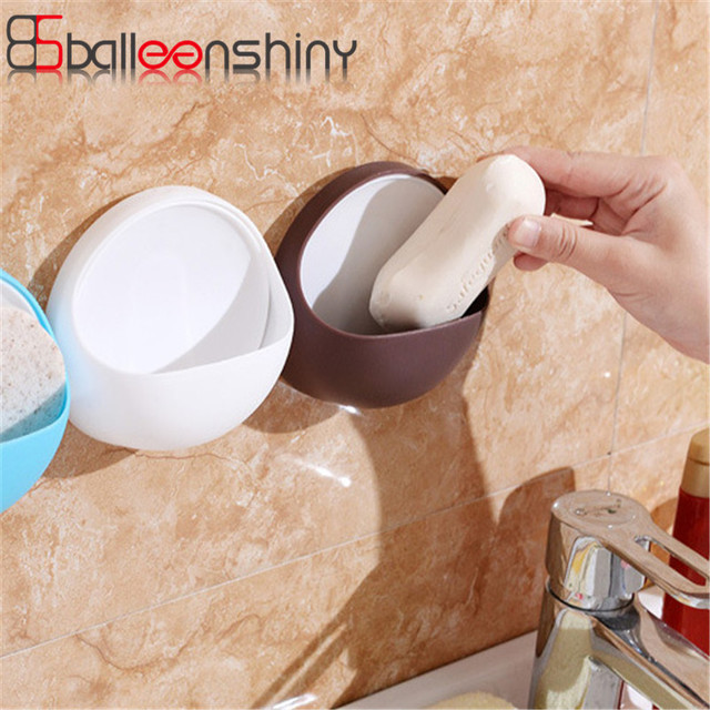 Balleenshiny Soap Holder Tray Drain Er Suction Cup Bathroom Shower Dish Razor Storage