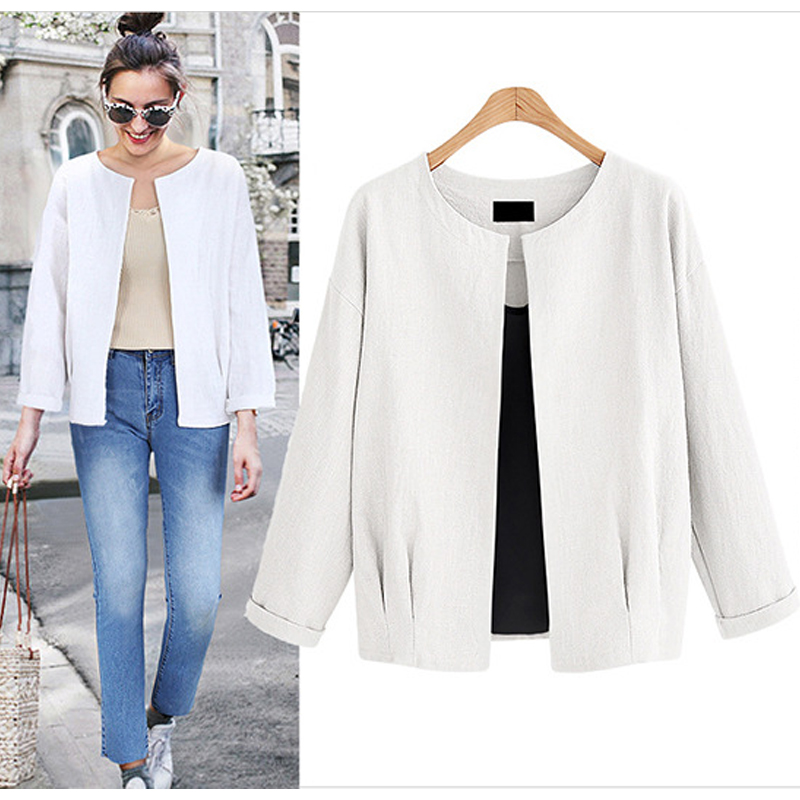Oversize Thin Coat Short Ladies Cardigans Long Sleeve Fashionable Streetwear Jacket Woman Spring 2019