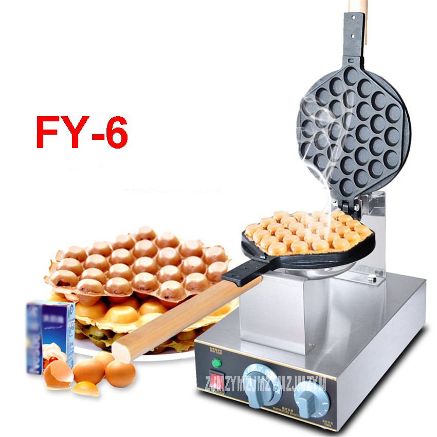 FY-6 HongKong eggettes Professional electric waffle iron blast furnace maker bubble machine egg tart 220V/110V 25*30mm hole size tsk 2193w eggettes professional electric waffle iron blast furnace maker bubble machine egg tart 220v 50 hz 20cm tray diameter