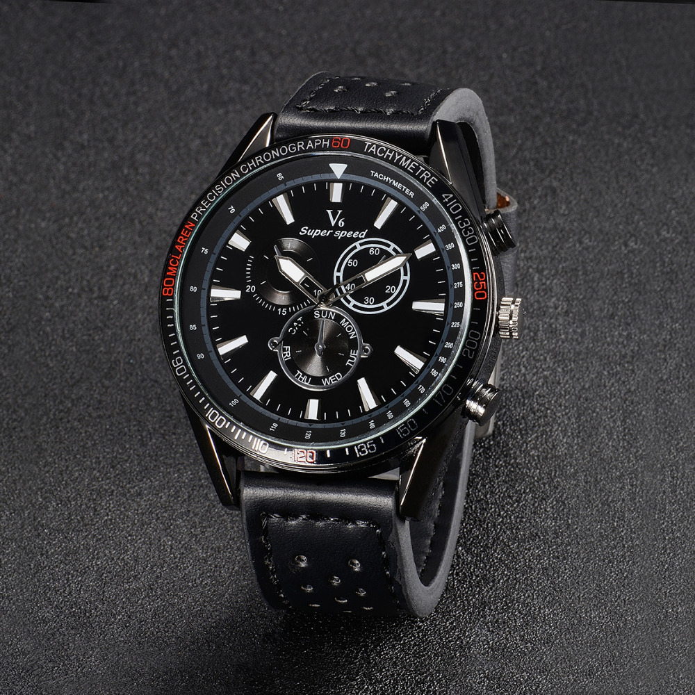 Hot sale 2017 Fashion V6 Watches Men Luxury Brand Analog Sports Watch Top Quality Quartz Military Watch Men Relogio Masculino