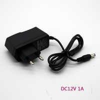 1PCS 12V1A Neue AC 100 V-240V Converter power Adapter DC 12V 1A 100 0mA Netzteil Eu-stecker DC 5,5mm x 2,1mm