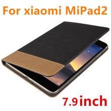 Case para xiaomi mipad 2 tableta protector de la cubierta elegante de cuero de imitación pc 3 para xiaomi mipad2 protector cubiertas de la manga de 7.9 pulgadas de la pu