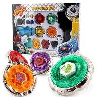 POPIGIST New Fun Drop Shopping Metal Beyblade 4D Launcher Set Spinning Top For Children Halloween Gift