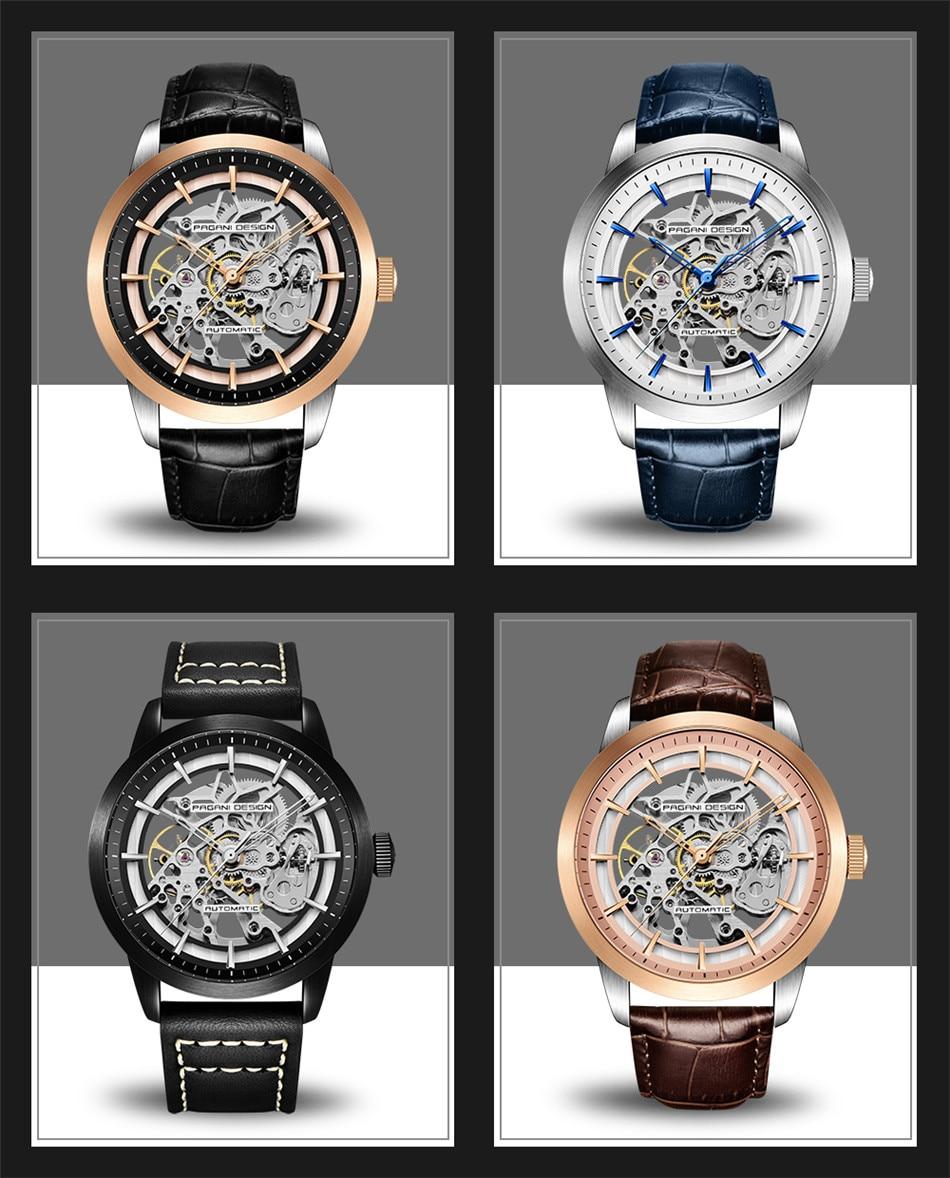HTB10r4bafjsK1Rjy1Xaq6zispXa6 2019 PAGANI DESIGN Brand Fashion Leather Gold Watch Men Automatic Mechanical Skeleton Waterproof Watches Relogio Masculino Box