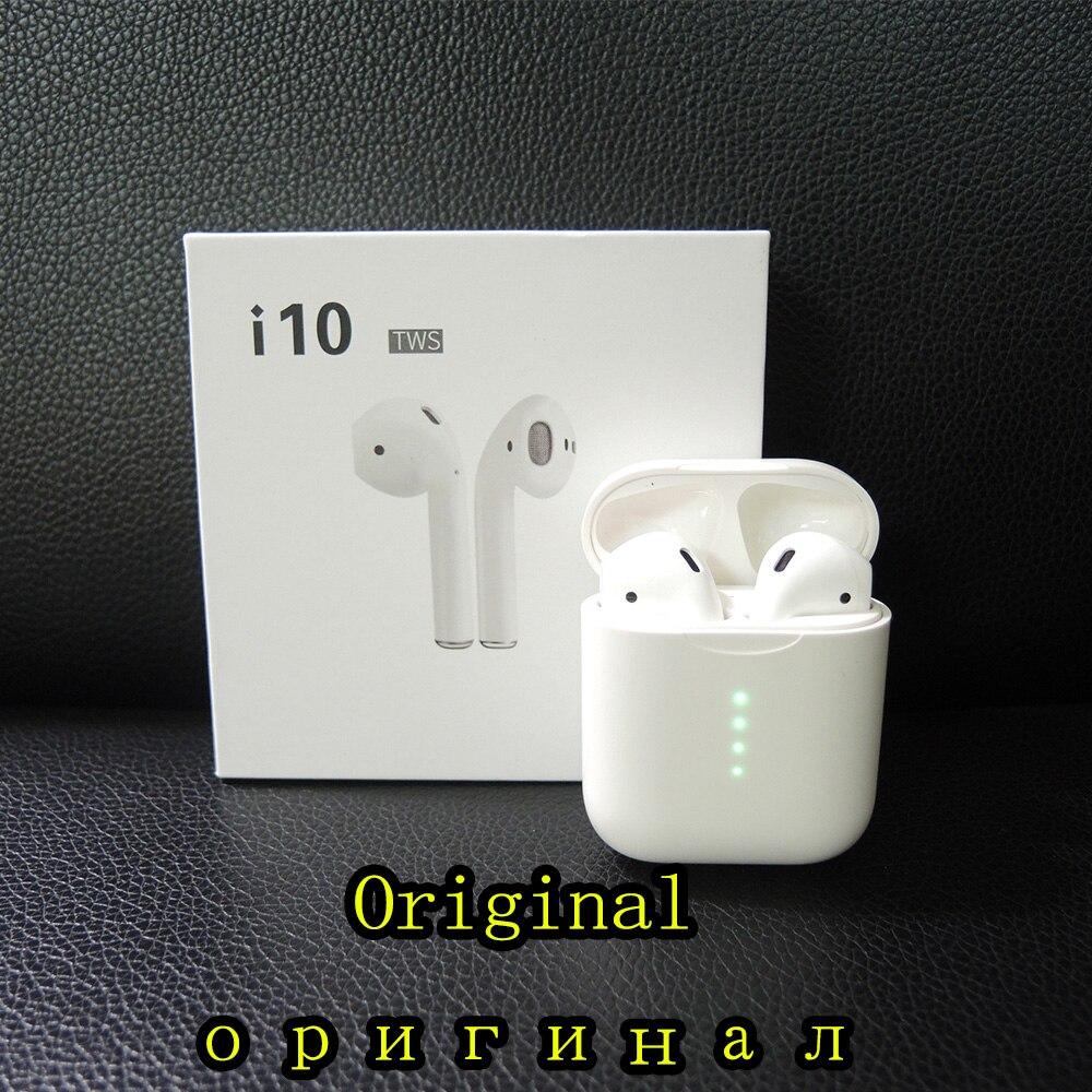 Écouteurs Bluetooth d'origine i10 tws sans fil Bluetooth 5.0 écouteurs tactiles pour IPhone Xiaomi téléphones Android i10 TWS