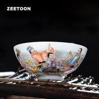 Бутик китайский Керамика Аутентичные Цзиндэчжэнь Famille роза фарфор Чай чашки Чай чаша мастер чашки Чай чашка кунг фу Чай комплект подарочная