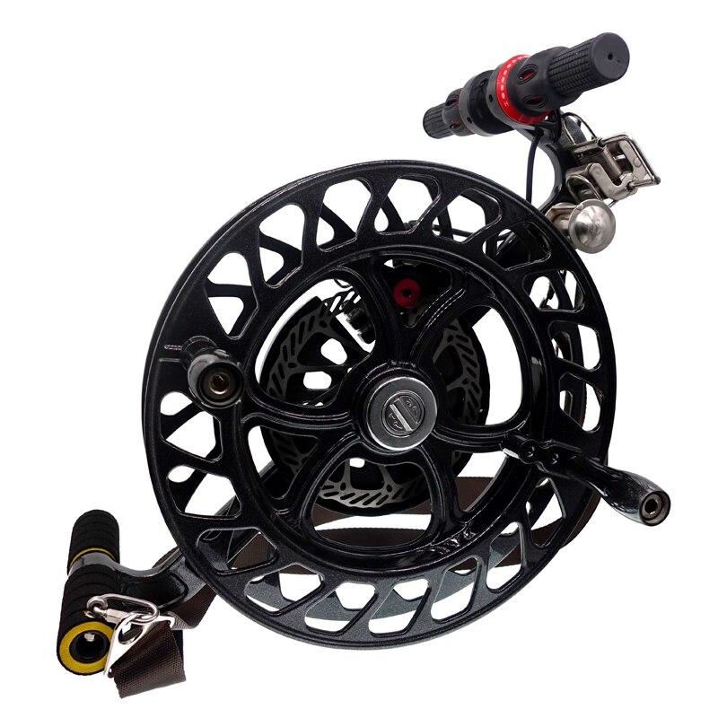 32 cm cerf-volant chaîne bobine ligne enrouleur roue frein à disque serrure à cliquet avec sangle ensemble pour grand Parafoil cerf-volant