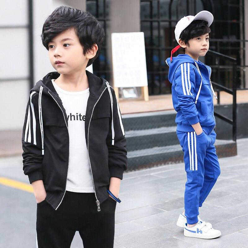 Kids Clothes Boy's Sports Set Kids Clothing Sets Boy Teenagers Sport Suit School Kids Suit Sets Boys Jackets & Pants Tracksuit