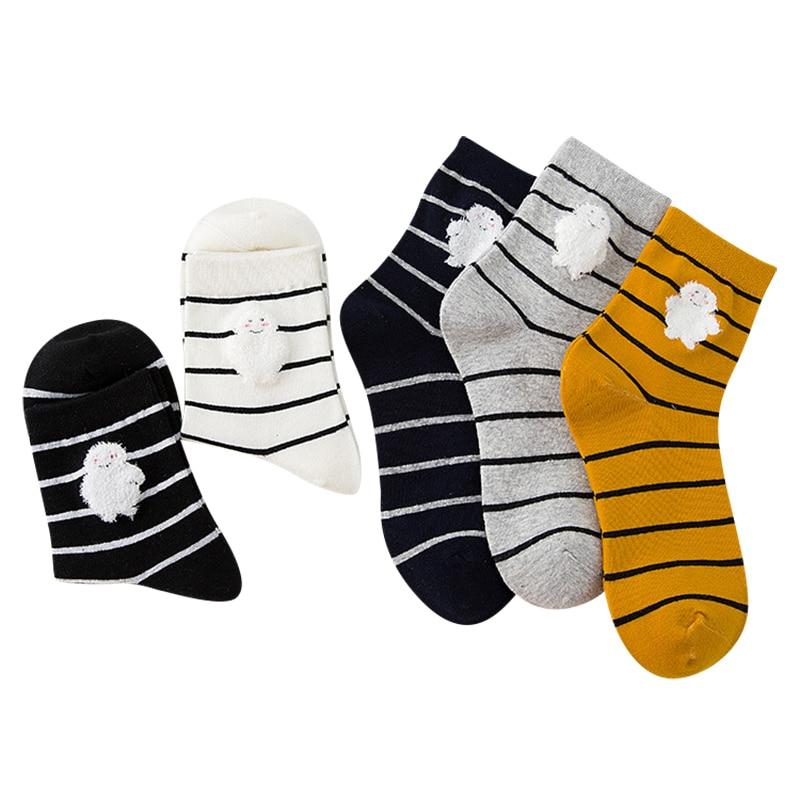 Dames Coton Chaussettes Confortable Respirant Chaussettes Pour Femme Bande Chaud Femmes Dans Le Tube Chaussettes 3 paires/lot