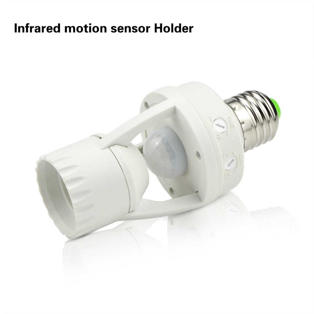Smart PIR Infrared Motion Sensor Switch LED Lamp Holder DIY LED Ball Bulb Light E27 220V 12W For Corridor Stairs Indoor Lighting