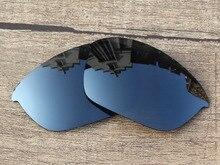 Black Iridium Mirror Polarized Replacement Lenses For Half Jacket 2.0 Sunglasses Frame 100% UVA & UVB Protection