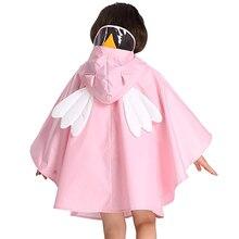 Yellow Dinosaur Raincoat Kids Girls Waterproof Poncho Cover Rain Coat Suit Rainwear Hat Capa Chuva  Women 50KO137