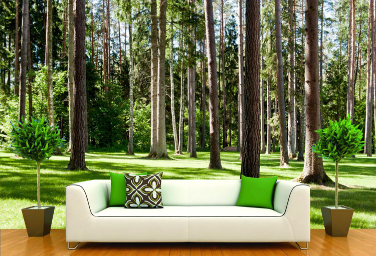 getSubject   aeProduct. Forest Landscape Wallpaper Wood Trees Photo Wallpaper Natural