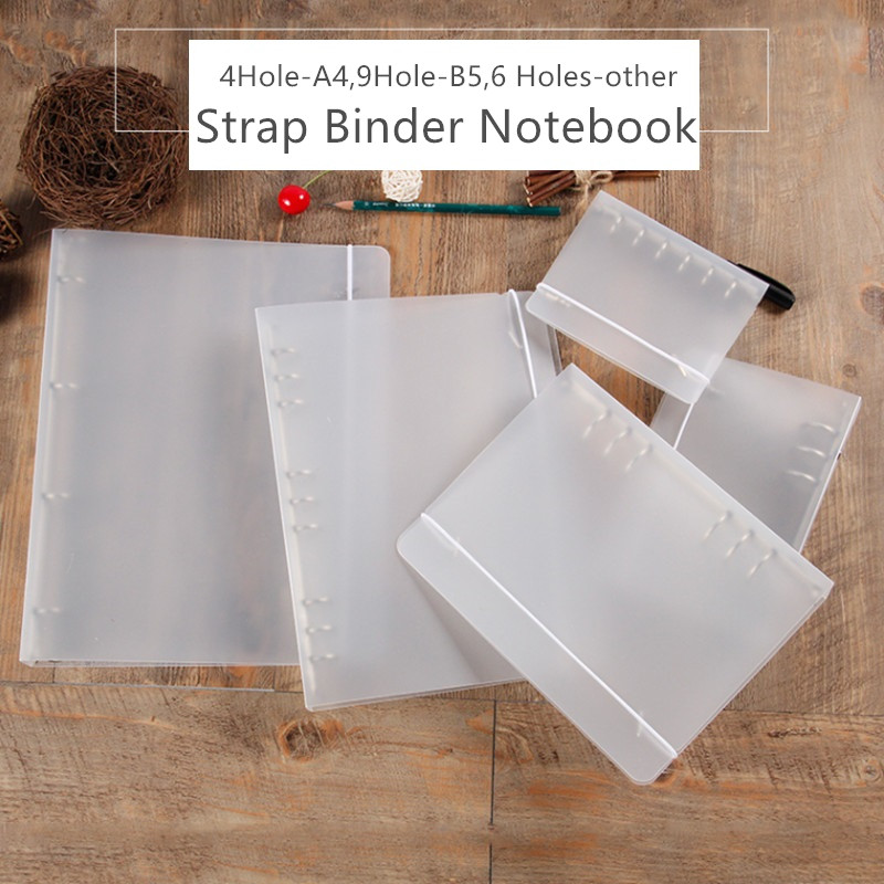 B5 A5 A6 A7 Simple PP PVC Spiral Binder Loose Leaf Notebook Sheet Shell Office School Supplies Transparent Concise Planner Cover