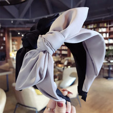Haimeikang Hairband Rabbit Ears Cloth Bow Headband Women Girls Hair Head Hoop Bands Accessories For Girl Hairbands Headwear(China)