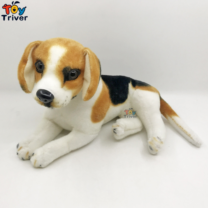 Plush Beagle Dog Puppy Stuffed Animals Doll Simulation Dogs Model Baby Kids Children Birthday Gift Home Shop Decor Triver