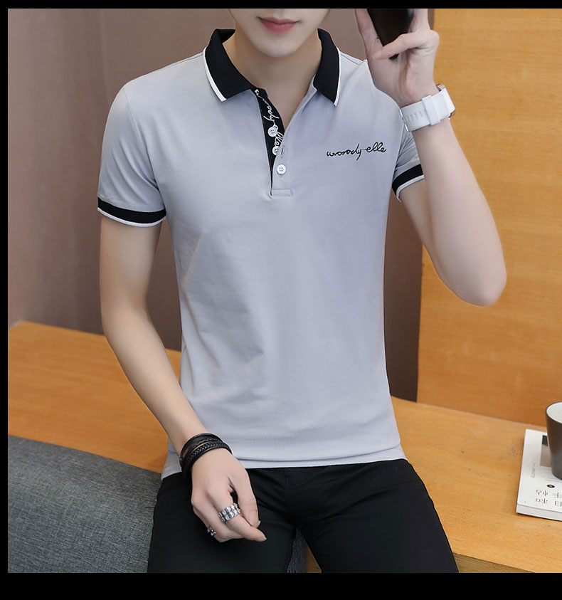 Short-sleeved T-shirt men's fashion casual cotton clothes decorated with multi-color optional 96