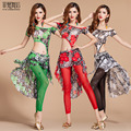 2017 Rushed Branded Garments Belly Dance Costume Set Professional For Women Bellydance Top+Skirt +Leggings D1373