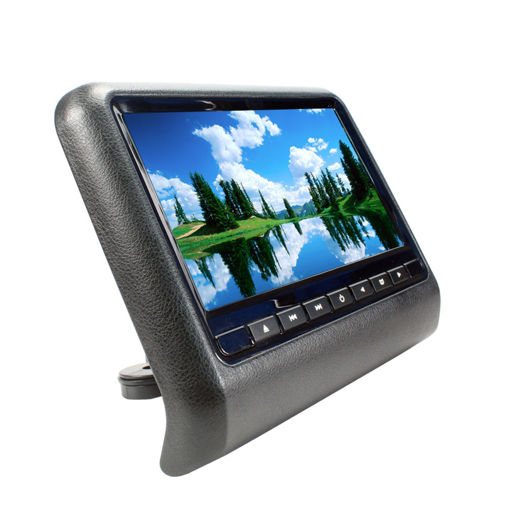 Universal 9 Car Headrest DVD Player TFT LED Screen Headrest Monitor800*600,Game DVD VCD AV USB SD TF MP4 POWER IR Transmitter 2 x 9 inch digital display screen headrest dvd player beige car headrest video player support usb sd ir fm transmitter remote
