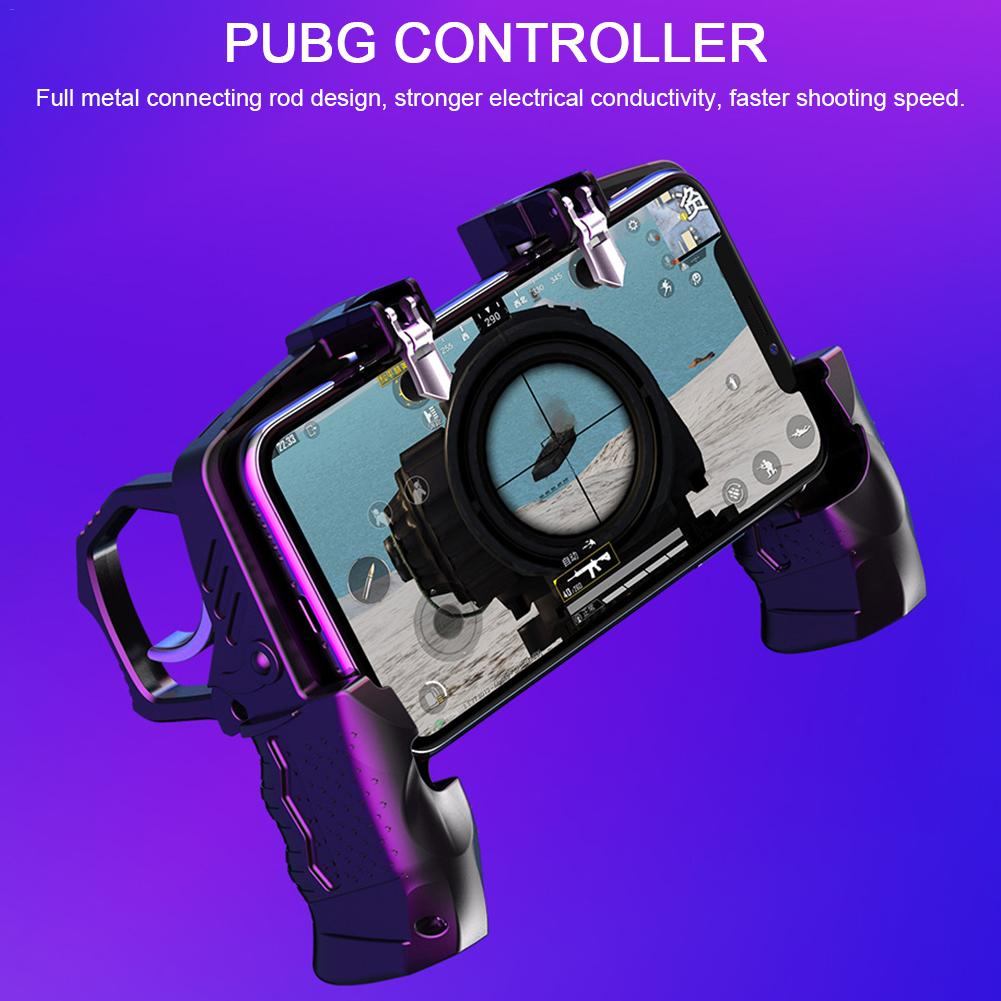 Portable Gamepad Mobile Controller and PUBG Controller with Trigger Fire Button for Android and iPhone 2