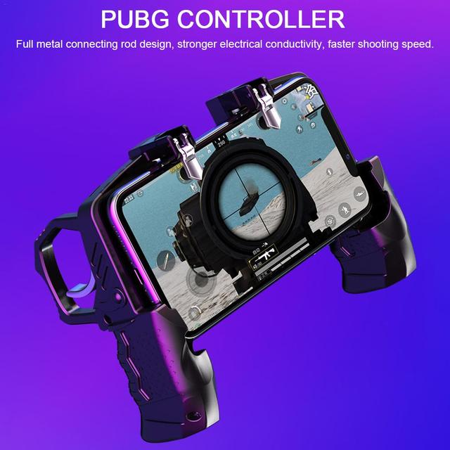 2020 For Pubg Controller For Mobile Phone Game Shooter Trigger Fire Button For IPhone Android Phone Gamepad Joystick PUGB Helper 2