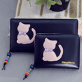 New Arrival Cute Carton Cat Women Wallet Short and Long Pattern Women Purse Women Card Holder Zipper Design Brand Coin Purse