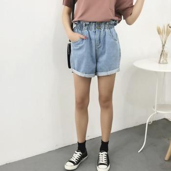 Summer High Waist Denim Shorts Women   4