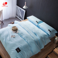 Home textile 100% cotton bedding set sky blue bed cover colorful duvet cover 4pcs/set queen bed set Brief bed linens priting bed