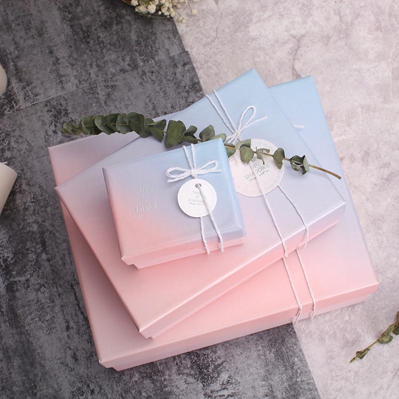 Novo Saco Do Presente caixa de presente do Dia das Mães Dia Dos Namorados Gradiente Fresco Festivo Bandeja Para O frasco de perfume de Chocolate Outros presente